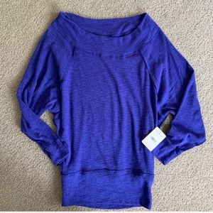 Free People oversized thermal sweater SZ S